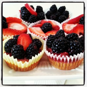 Almond Berry Mini Cakes