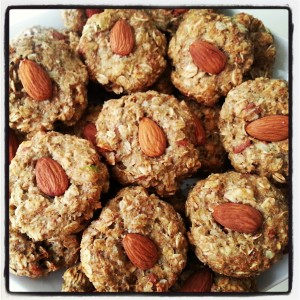 Oatmeal Avocado Almond Sugar Free Cookies Photo