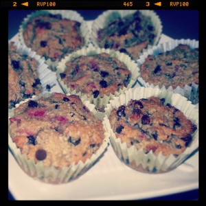 Raspberry & Chocolate Chip Almond Flour Muffins Photo