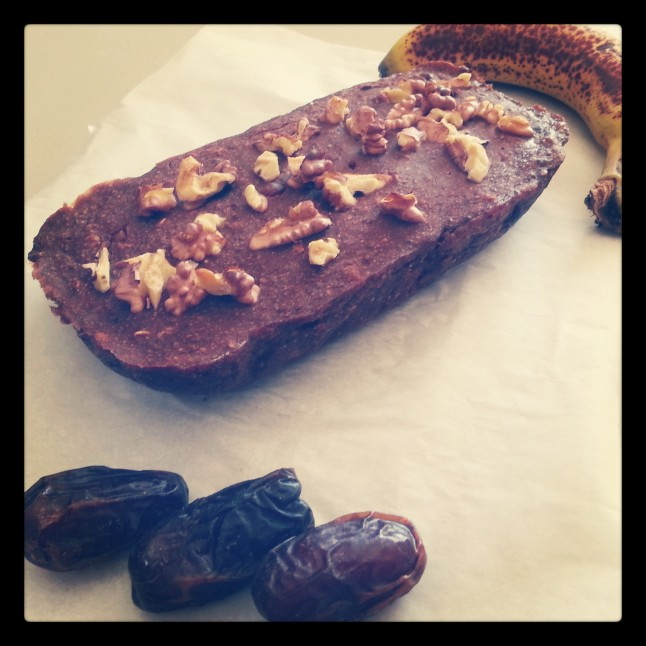 This Banana, Date & Walnut Loaf uses only bananas and dates as natural sweeteners.