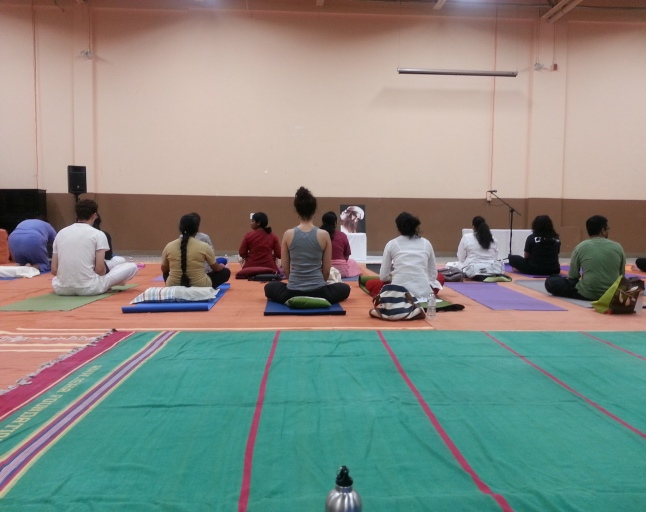 At the Surya Kriya Program,  Toronto, July 2013
