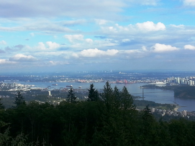 A view of Vancouver city from the peak of Cypress Mountain